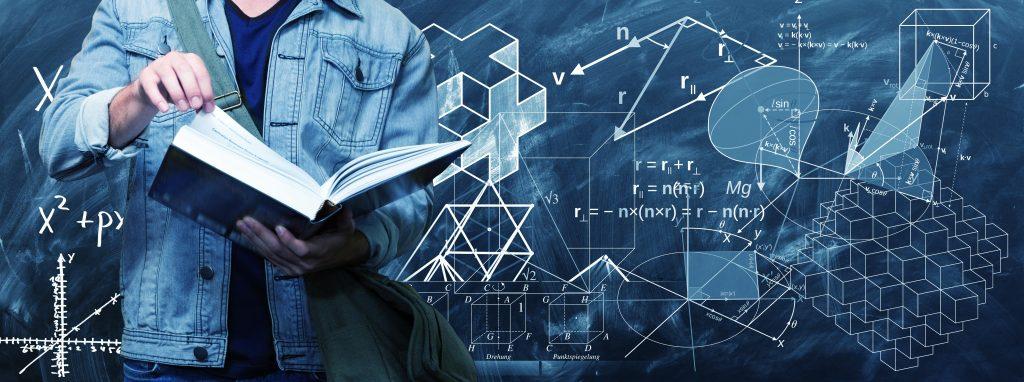 数学や統計、プログラミングを勉強する若者